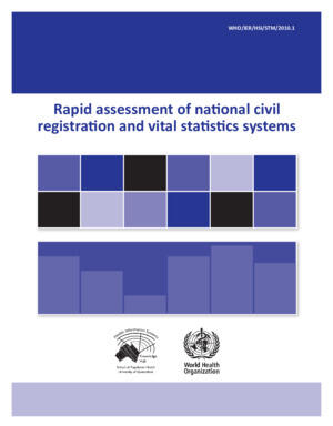 Rapid CRVS assessment