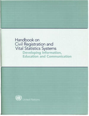 Handbook on CRVS - Developing information, education and communication - 1998