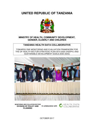 Tanzania Health Data Collaborative Report 12.12.2017