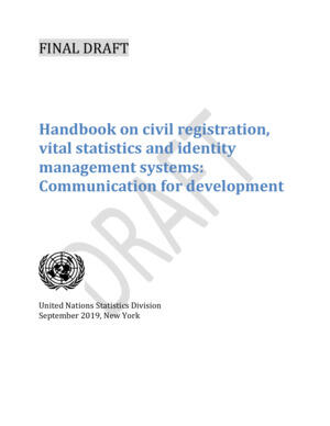 Handbook on civil registration, vital statistics and identity management systems: Communication for development