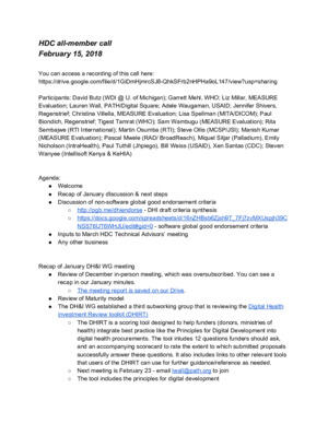 DH&I February 2018 Meeting Minutes