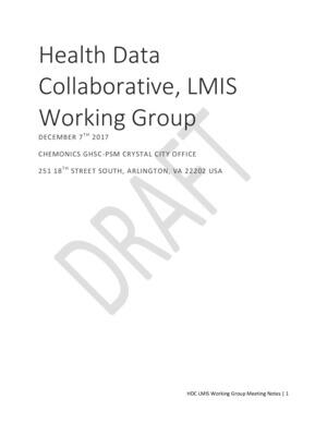 LMIS Meeting Notes December 2017