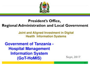 Tanzania GOT-HOMIS Presentation 12 September 2017
