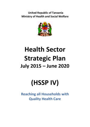 Tanzania Health Sector Strategic Plan (2015-2020)