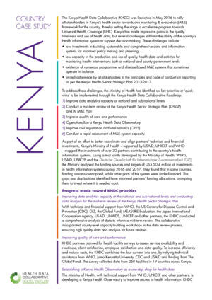 HDC Country Case Study: Kenya